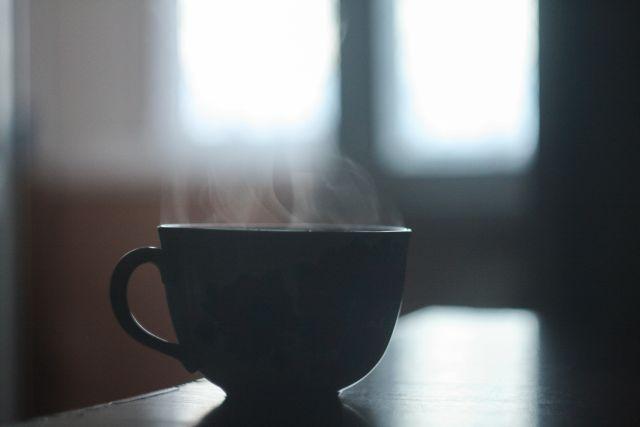 builder's tea, dampfende Tasse Tee