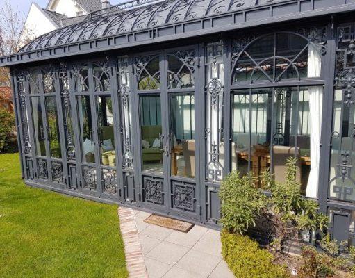 Gartenhaus Aluminium anthrazit