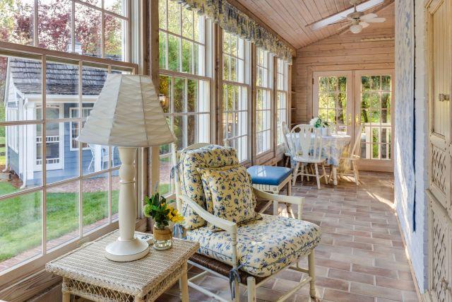 Wintergarten Conservatory in creme gehalten