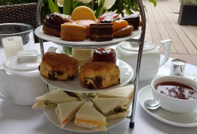 Etagere, Scones, Sandwiches, Sweets