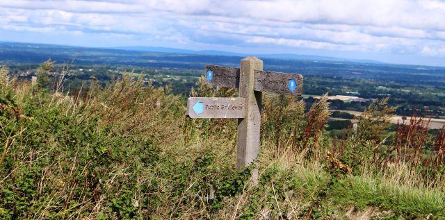 South Downs Way an der Südküste von Eastbourne nach Winchester