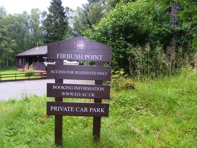 Firbush Point am Loch Tay,  Sportstätte für die University of Edinburgh
