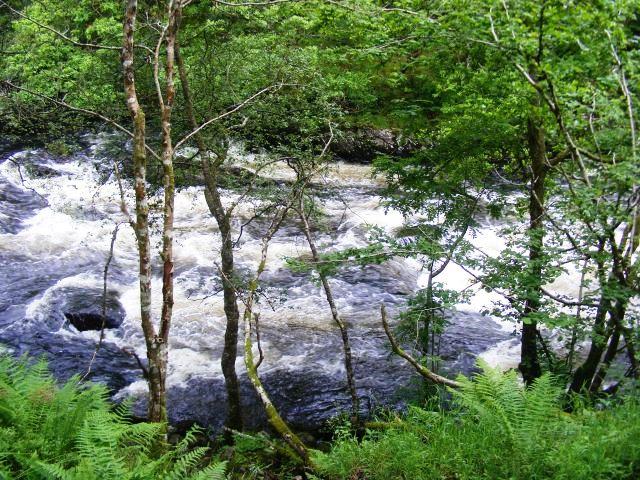 Fluss Garbh Uisge entlang dem Rob  Roy Way