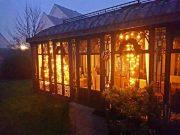 Gartenhaus an Weihnachten