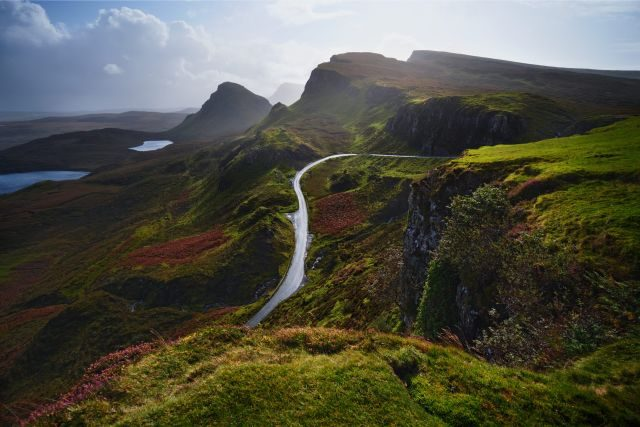 Straße Berge grüne landschaft