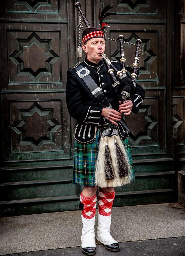 Schotte Dudelsack Tür