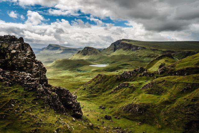grüne Landschaft Berge