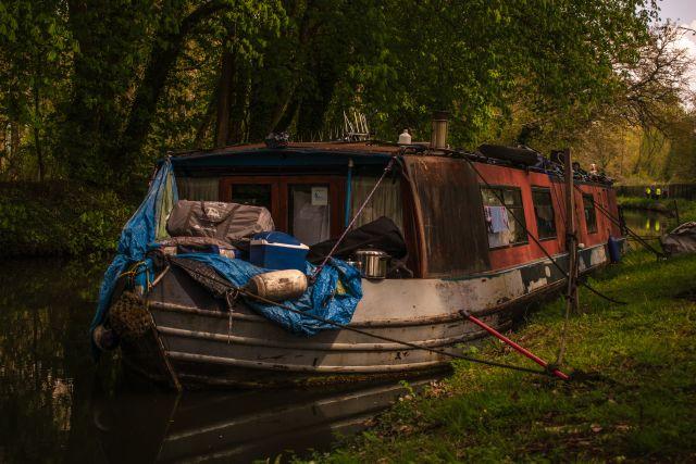 Narrowboat angetäut